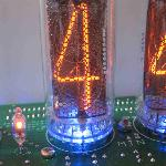 Russian IN18 nixie tube up close, with option underfloor lighting